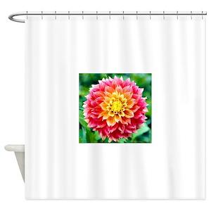 Pink Dahlia Shower Curtains