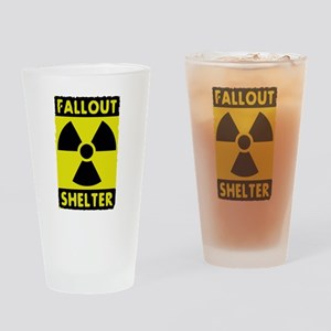 fall out shelter sign Drinking Glass