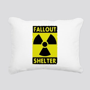 fall out shelter sign Rectangular Canvas Pillow