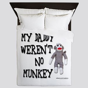 Evolution Sock Monkey Queen Duvet