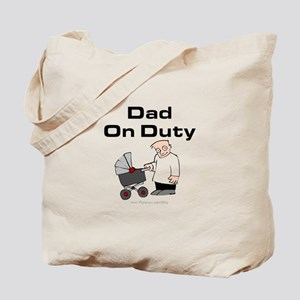 Dad On Duty Diaper Bag (tote)