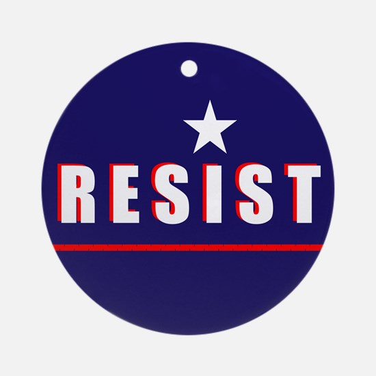 Resist Round Ornament