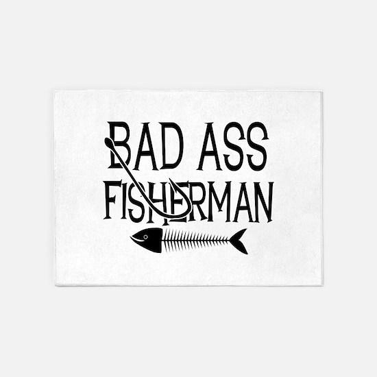 Bad Ass Fisherman 5'x7'Area Rug