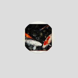 White and Orange Koi Mini Button