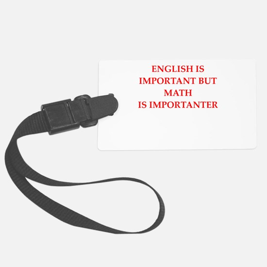 math Luggage Tag