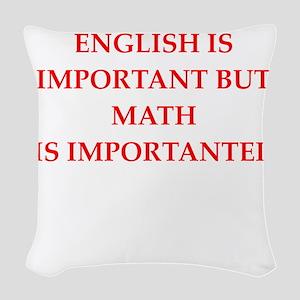 math Woven Throw Pillow