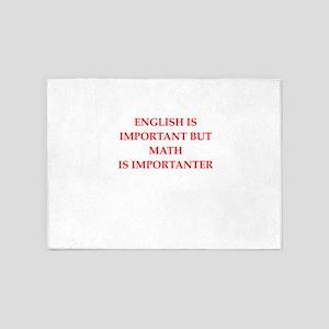 math 5'x7'Area Rug
