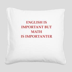 math Square Canvas Pillow