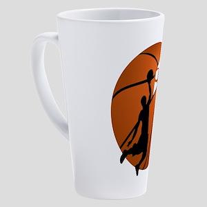 Slam Dunk Basketball Player w/Hoop 17 oz Latte Mug