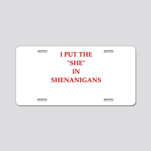 she Aluminum License Plate