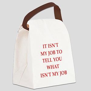 job Canvas Lunch Bag