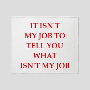 job Throw Blanket