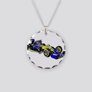 F 1 Necklace Circle Charm