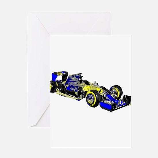 F 1 Greeting Cards