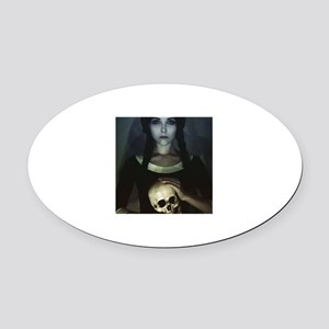 GOTHIC GIRL Oval Car Magnet