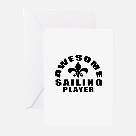 Awesome Sailing Player D Greeting Cards (Pk of 10)