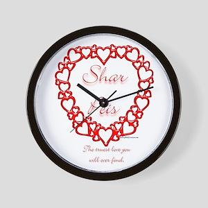 Shar Pei True Wall Clock