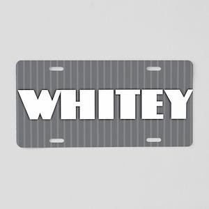 Whitey - Gray Aluminum License Plate