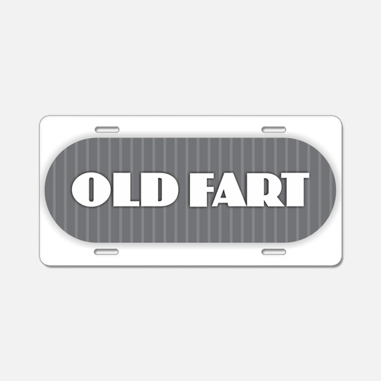 Old Fart - Gray Aluminum License Plate