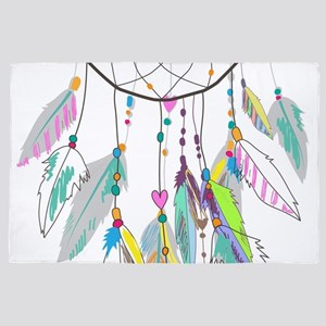 Dreamcatcher Feathers 4' x 6' Rug