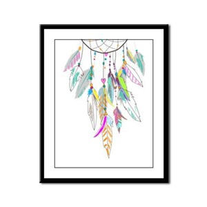 Dreamcatcher Feathers Framed Panel Print