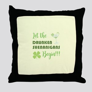 LET THE DRUNKEN... Throw Pillow