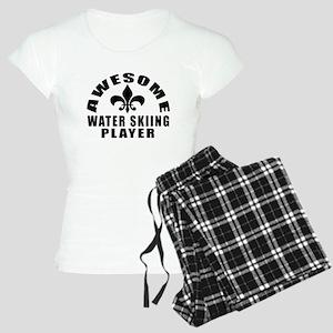 Awesome Water Skiing Player Women's Light Pajamas