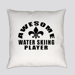 Awesome Water Skiing Player Design Everyday Pillow