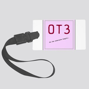 OT3 - For the indecisive fangirl Large Luggage Tag