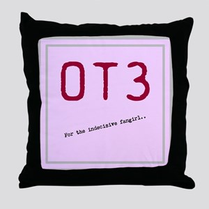 OT3 - For the indecisive fangirl Throw Pillow