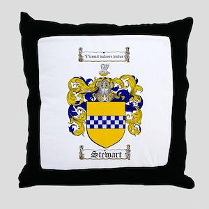 Stewart Coat of Arms Throw Pillow