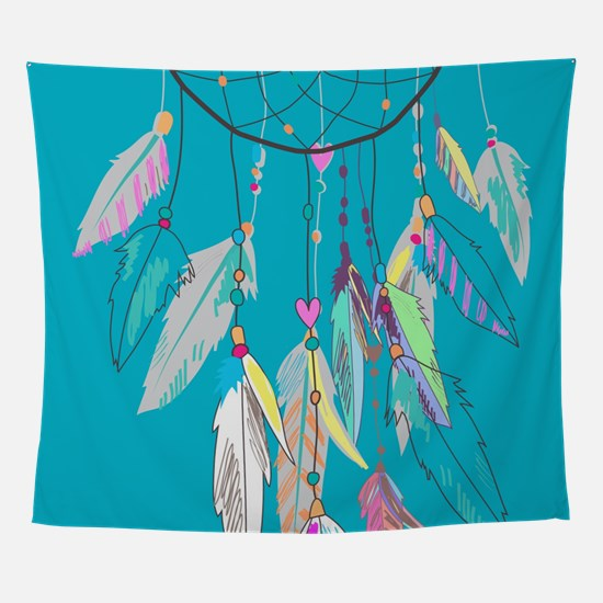 Dreamcatcher Feathers Wall Tapestry