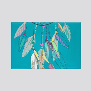 Dreamcatcher Feathers Rectangle Magnet