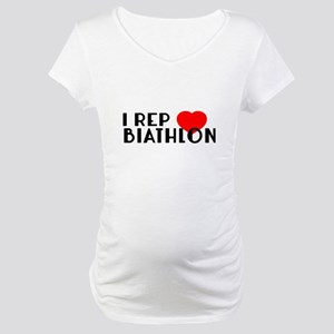 I Rep Biathlon Sports Designs Maternity T-Shirt