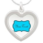 Personalizable Teal Black Necklaces