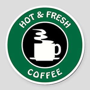GIBBS COFFEE Round Car Magnet