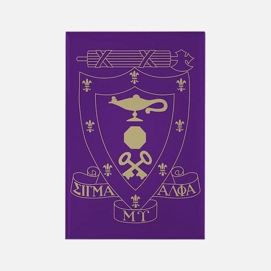 Sigma Alpha Mu Crest Rectangle Magnet