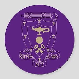 Sigma Alpha Mu Crest Round Car Magnet