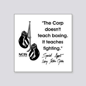 """THE CORP DOESN'T... Square Sticker 3"""" x 3"""""""