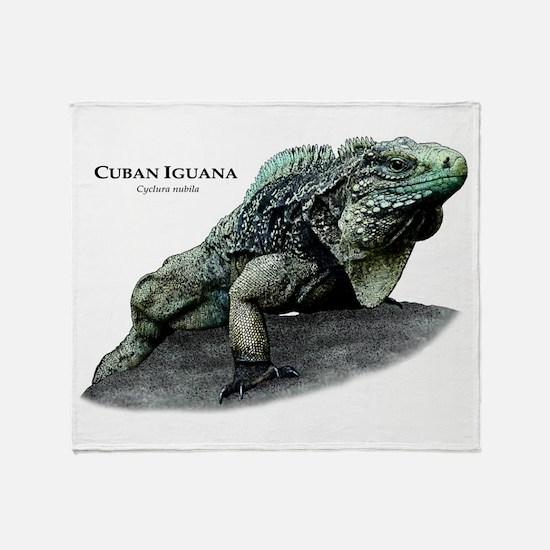 Cuban Iguana Throw Blanket
