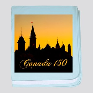 Parliament - Canada 150 baby blanket
