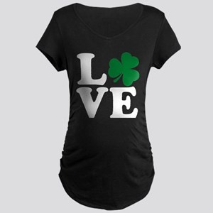 St Patrick's Day LOVE Shamrock I Maternity T-Shirt