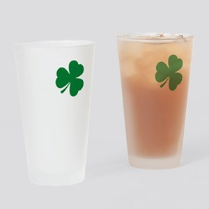 St Patrick's Day LOVE Shamrock Iris Drinking Glass