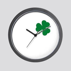 St Patrick's Day LOVE Shamrock Irish Wall Clock