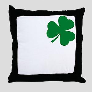 St Patrick's Day LOVE Shamrock Irish Throw Pillow