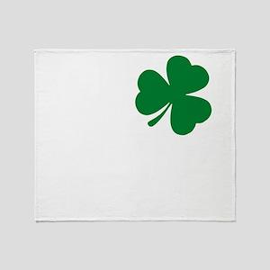 St Patrick's Day LOVE Shamrock Irish Throw Blanket