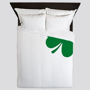 St Patrick's Day LOVE Shamrock Irish Queen Duvet