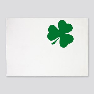 St Patrick's Day LOVE Shamrock Iris 5'x7'Area Rug