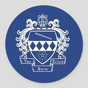 Tau Beta Sigma Crest Round Car Magnet