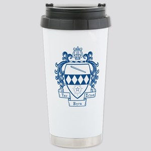Tau Beta Sigma Crest Stainless Steel Travel Mug